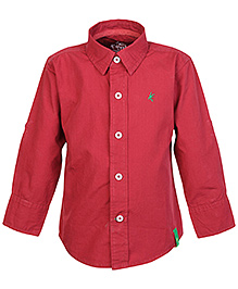 Palm Tree Red Full Sleeves Shirt
