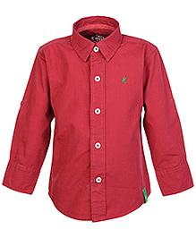 Palm Tree Red Full Sleeves Shirt