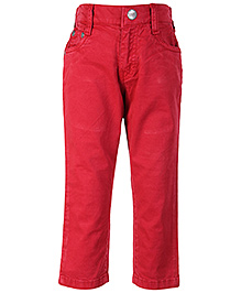 Gini & Jony Red Full Length Trouser - Back Pockets