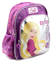 Steffi Love Purple Stylish Back Pack - 16 Inches - 12 X 30 X 38.5 Cm