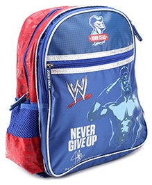 WWE Backpack John Cena Print Red - 16 Inches - 30 X 12.5 X 40 Cm