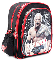 WWE Backpack The Rock Print Black - 14 Inches - 27 X 10.5 X 35 Cm