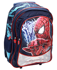 Spider Man Trolley Backpack Navy Blue - 18 Inches