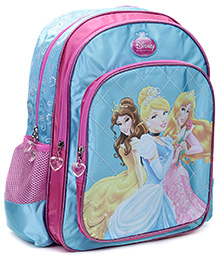Disney Princess Cross Diamond Print Back Pack - 16 Inches - 30.5 x 12.5 x 40 cm