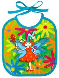 Pylones Multi Color Fairy Print Bib - 23 x 25 cm