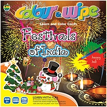 Apple Fun Colour And Wipe Cards -  Festival Of India