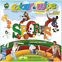 Apple Fun Colour And Wipe Cards Sports Mini - 3 Years Plus