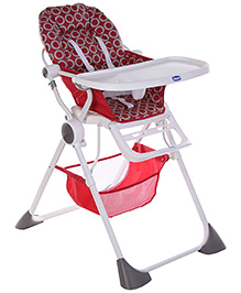 Chicco Pocket Lunch High Chair - Red Wave