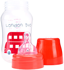 Nursa Wide Neck Feeding Bottle Red - 260 Ml - BPA Free