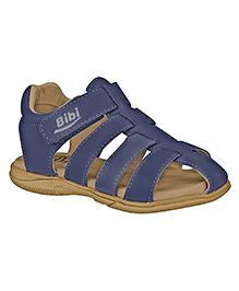 Elefantastik Sandals with Designer Strap and Velcro Closure  - Blue