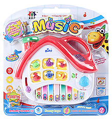 Fab N Funky White And Red House Shaped Keyboard Musical Toy