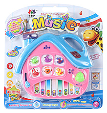 Fab N Funky Blue And Pink House Shaped Keyboard Musical Toy