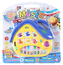 Fab N Funky Dark Blue And Yellow House Shaped Keyboard Musical Toy