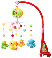 Fab N Funky Colour And Music Bell Red Musical Cot Toy - 31 X 31 X 56 Cm - 0 To 18 Months