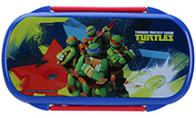 Ninja Turtle Lunch Box With Spoon And Fork - Red - 9.5 X 19 X 6.5 Cm