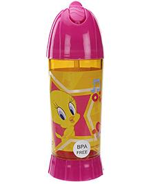 Tweety Straw Water Bottle Pink - 450 ml