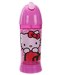 Hello Kitty Straw Water Bottle Pink - 450 ml