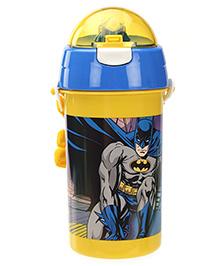 Batman Sipper Water Bottle Blue And Yellow - 500 Ml - 7 X 7 X 19 Cm