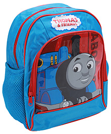 Thomas & Friends Blue School Bag 9 x 24 x 30 cm, Front pocket organizer and side pockets for water bottle