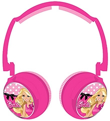 Barbie Lightweight And Compact Headphones 3 Years+, Frequency Range 20Hz-20 khz, Bright colors makes this...