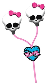 Monster High Molded Character Earphones Listen to music in Monster style with this ear phones