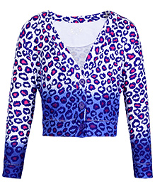 Quarter Spoon Savannah Shrug - Leopard Print