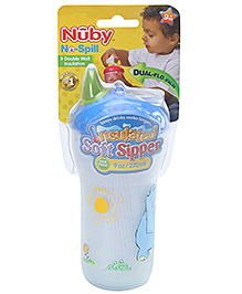 Nuby No Spill Insulated Soft Sipper Blue - 270 ml