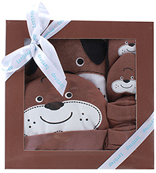 1st Step Brown Teddy Design Baby Gift Set - Pack Of 4