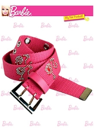 Barbie Studded Canvas Belt