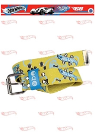 Hot Wheels Car Print Belt - Yellow