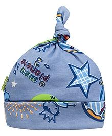 Kushies Baby Blue Graffiti Print Cap