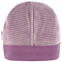 Kushies Baby Purple Stripes Print Cap