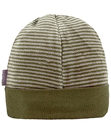 Kushies Baby Green Stripes Print Cap