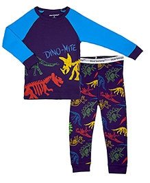 Kushies Baby Full Sleeves T Shirt and Legging Set - Dinosaurs Print