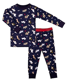 Kushies Baby Full Sleeves T Shirt and Legging Set - Puppy Print