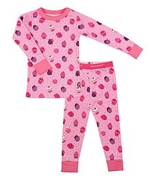 Kushies Baby Full Sleeves T Shirt and Legging Set - Cupcakes Print