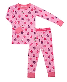 Kushies Baby Full Sleeves T Shirt and Legging Set - Cupcakes Print