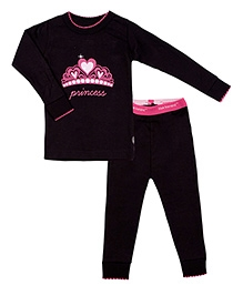 Kushies Baby Full Sleeves T Shirt and Legging Set - Princess Print