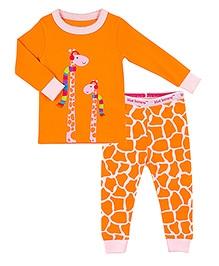 Kushies Baby Full Sleeves Top and Legging Set - Giraffe Print