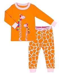 Kushies Baby Full Sleeves Top and Legging Set - Giraffe Print