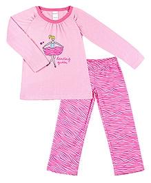 Kushies Baby Full Sleeves Top and Pyjama Set - Dancing Queen Print