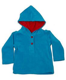 Fundoo Bandoo Full Sleeves Hooded Sweatshirt - Blue