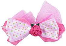 Stol'n Bow Clip With Glitter Rose Mesh