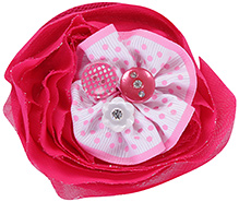 Stol'n Flower Clip With Pearl Buttons Pink