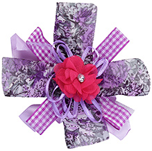 Stol'n Multi Strands Pink Hair Clip With Floral Check Print