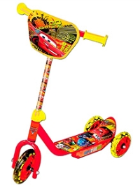 Disney Three Wheel Inline Scooter Pixar Cars - Red and Yellow