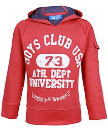 FS Mini Klub Red Full Sleeves Sweatshirt - Boys Club USA