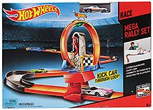 Hotwheels Kick Car Through Loop Trackset