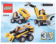 Lego 3 In 1 Power Digger Vehicle
