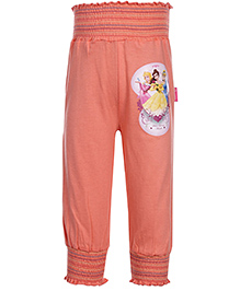 Disney Princess Printed Full Length Leggings - Light Peach